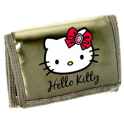 Portefeuille Hello Kitty bronze verni