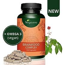 NUEVO! Brainfood Complex Vegavero | Memoria + Concentración + Energía Mental + Estudio | DHA