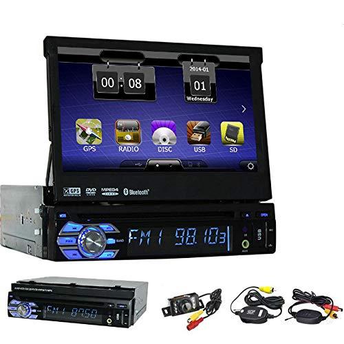EINCAR 7inch Single 1 L?rm im Schlag-Screen-Auto-DVD-Spieler GPS-Auto-Stereo-Steuerger?t Audio MP3 / MP4 Aux Windows CE-System Bluetooth USB/SD/TF 1 Din FM/AM/RDS Radio-Auto GPS-Navigation + Free Wi
