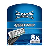 Wilkinson Sword Quattro 2974095 - Set 8 teste per rasoio