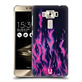 Head Case Designs Purpur Feuer Hot Rod Flamme Ruckseite Hülle für Zenfone 3 Deluxe 5.5 ZS550KL