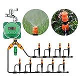 ZDYLM-Y Bewässerungssystem Garten 20 Meter Bewässerungsschlauch, Timer-Tropfer und Verschiedene Tropfensets für Garten, Gewächshaus, Terrasse