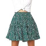 Beikoard  Faldas Mujer Verano,Falda de Encaje con Volantes y Estampado de Lunares,Faldas Mujer Cortas Faldas Mujer Verano 2019