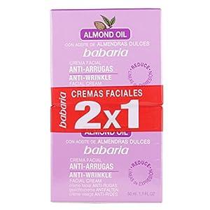 Babaria Aceite Almendras Dulces Crema Facial Antiarrugas Crema Antiarrugas – 2 Unidades