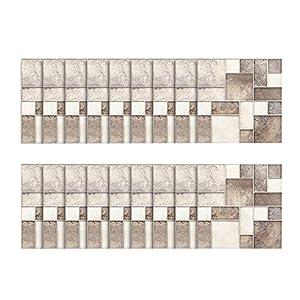 18pcs - tapeten Ziegel Stein rustikale Wirkung Wand Home Decor Selbstklebende Wasserdichte Schwarze marmor mosaik wandkunst küche Fliesen Aufkleber wandtattoos (E)
