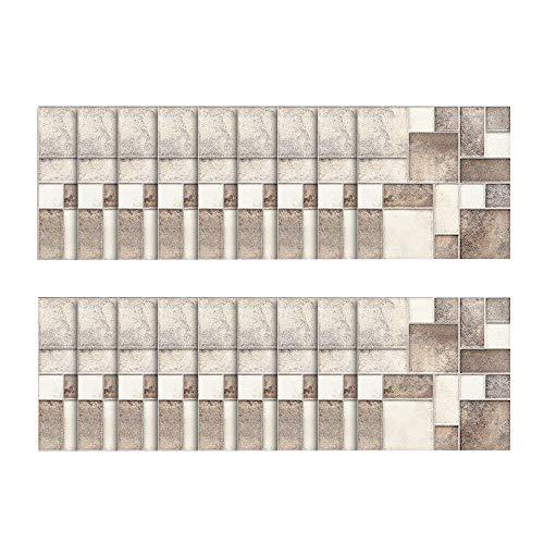 Brick-mosaik-fliesen-böden (18pcs - tapeten Ziegel Stein rustikale Wirkung Wand Home Decor Selbstklebende Wasserdichte Schwarze marmor mosaik wandkunst küche Fliesen Aufkleber wandtattoos (E))