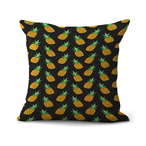 OPoplizg Cushion Cover Fruit Pineapple Tropical Fruit
