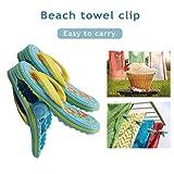 Mollette 2 PCS Ciabatte Da Spiaggia Pinza Per Asciugamano Da Bagno Con Buon Attaccamento Clip Per Asciugamano Da Spiaggia Ampia, Leggera E Facile Da Trasportare Clip Per Asciugamano Portatile Per Uso