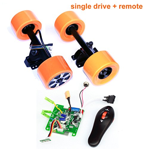 Electronic Longboard Hub Motor Kit Skateboard Brushless Motor Wheel With Truck Electric Board Dual Motor Drive Remote Controller (Single drive remote)