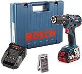 Bosch GSB 18-2-Li Plus Schlagbohrschrauber 18 V, 1 x 4 Ah LiIon Akku, 25 tlg. Zubehör, Koffer