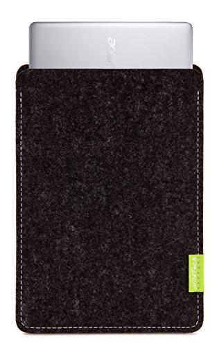 WildTech Sleeve für Acer Chromebook 14 (CB3-431-C6UD) Hülle Tasche aus echtem Wollfilz - 17 Farben (Handmade in Germany) - Anthrazit