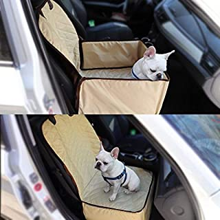 Aoxun Pet Front Seat Cover for Cars, with Anchors, Non- Slip Backing Waterproof Durable and Machine Washable for All Cars Trucks & SUVs
