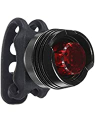 TOOGOO(R) LED ROUGE FEUX ARRIERE LAMPE CLIGNOTANT ETANCHE TAIL AMPOULE POUR VELO+2PILES(Argent)