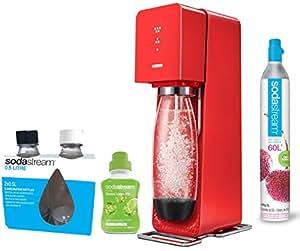 sodastream source machine eau p tillante et soda rouge pack 2 bouteilles fuse 0 5l 1. Black Bedroom Furniture Sets. Home Design Ideas