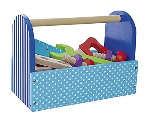 Tragbare Werkzeugbox mit Werkzeug aus Holz von Jabadabado