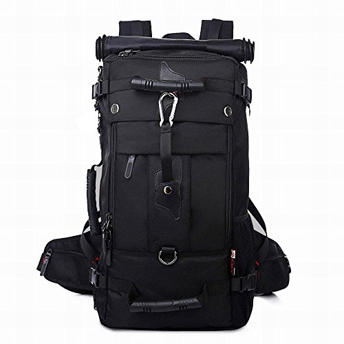Gro?e Kapazit?t multifunktional wasserdicht praktische Oversized Bergsteigen Tasche, Travel Backpack black 2