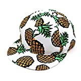 Amison Cool Ananas Snapback Bboy Cappello Regolabile Baseball Tappo Hip-hop Cappello Unisex (C)