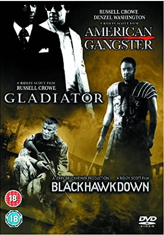 American Gangster/Gladiator/Black Hawk Down [Steelbook] [Import