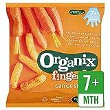 Organix Bocadillos Crujientes Tiras De Zanahoria Orgánica 20g (Paquete de 6)
