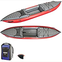 GUMOTEX Kayak gonflable HELIOS 1 - 1 personne 1 personne Rouge / Gris