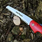 "FLORA GUARD Folding Hand Saw, Camping/Pruning Saw with Rugged 7"" Professional Folding Saw(RED)"