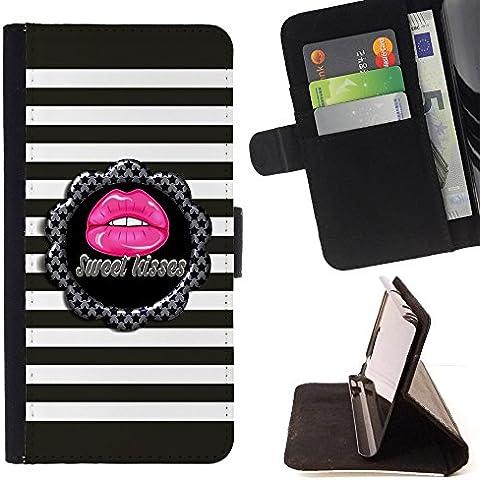 For LG G4 Stylus / G Stylo / LS770 H635 H630D H631 MS631 H635 H540 H630D H542 ,S-type Dolce bacio barra il reticolo Grigio Rosa - Disegno di cuoio di stile del raccoglitore della Case di telefono della pelle custodia protettiva