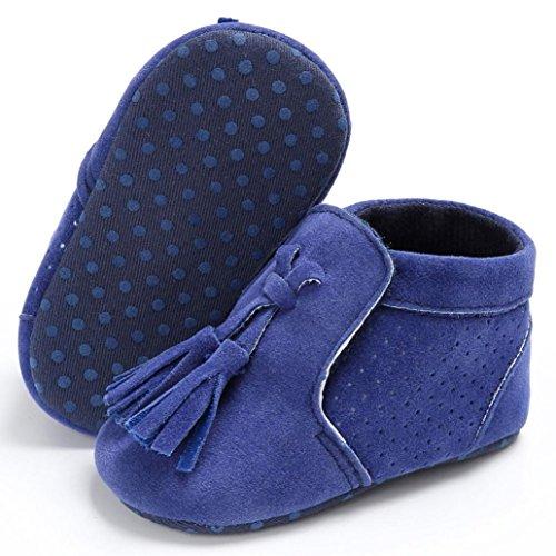 BZLine® Baby Schuhe junge Mädchen newborn Krippe Soft Sole Schuhe Sneakers Blau
