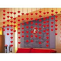 Pixnor Día de San Valentín decoraciones rojo corazón cadenas compromiso boda guirnalda fiesta Pack de 32