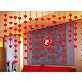 OULII Hanging Red Heart String Valentines Day Decorations Engagement Wedding Party Valentine's Day gift for women, pack of 32