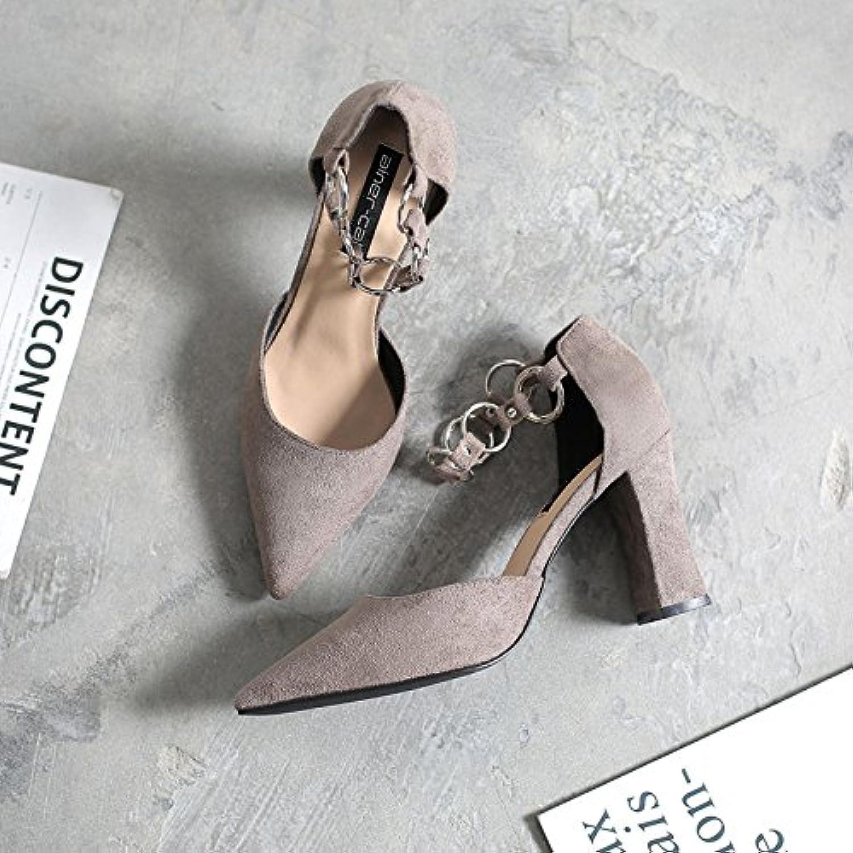 Fente en de serrage en Fente avec seul Chaussures à ressort en métal épais Chaussures en satin avec une pointu pour femme... - B07BNL8VS6 - e9a8fe