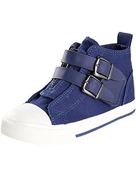 Kentti Buckle, Zapatillas de Deporte Altas Clásicas con Velcro para Niña Niño
