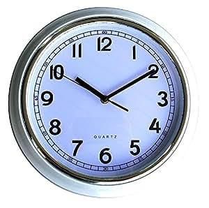 horloge murale pendule murale silencieuse blanche pile lr6 alcaline sony offerte