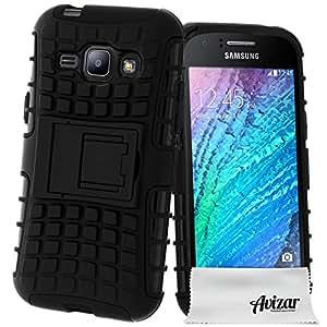 Avizar - Coque Protection Antichocs Samsung Galaxy J1 - Bimatière Noir