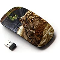 KOOLmouse [ Mouse Senza Fili Ottico 2.4G ] [ Leopard Furry Beast Nature Animal Cat ]