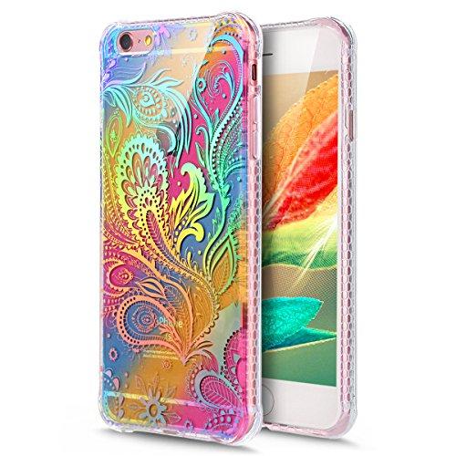 Coque iPhone 6 Plus, Étui iPhone 6S Plus, iPhone 6 Plus/iPhone 6S Plus Case, ikasus® Coque iPhone 6 Plus/iPhone 6S Plus Créatif Dégradé coloré arc en ciel Plaquage des couleurs Housse de protection en Pteris
