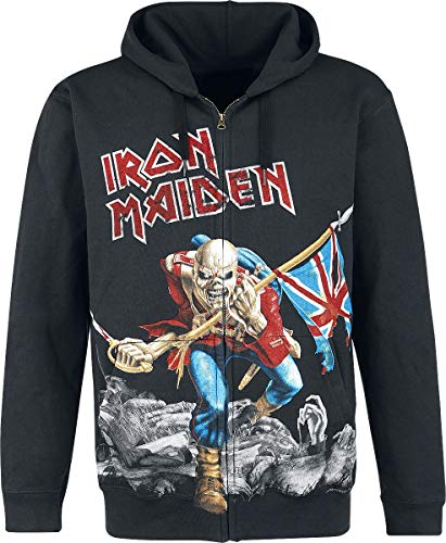 Iron Maiden The Trooper - Battlefield Kapuzenjacke schwarz L -