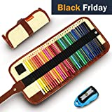 Crayons de Couleur Coloriage 36 Pcs Crayon en Bois d'Artiste Dessin avec Trousse (Khaki)