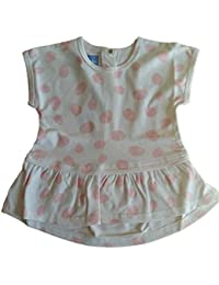 Pezzo Doro Baby Mädchen N21034-2 Tunika Minikleid rosa gepunktet