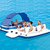 ACC Juguete de Cama Flotante Inflable de Agua/mar para 6-8 Personas, Silla Flotante con Anilla de baño, Ideal para la Despedida de Soltera