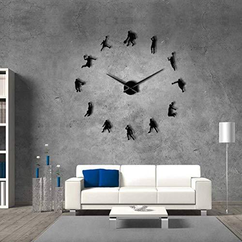 ALKLKJ Reloj de Pared Slam Dunk DIY Reloj de Pared Grande ...
