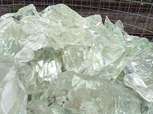 Zaunland Glasbrocken Glasstein Gartendekoration 20 KG. Klar Deco Glas Stein 70-140mm (Deco-gläser)