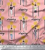 Soimoi Orange Canard de Coton en Tissu Dot, Embrayage et Femmes Groupe Tissu Imprime 1 Metre 56 Pouce Large