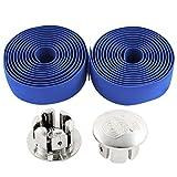 sourcingmap® Fahrrad Rennrad Lenker Schlupf Greifen Band Blau 2 Stück blau 200cm / 80 Zoll