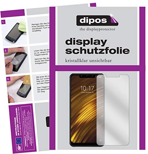 dipos I 2X Schutzfolie klar passend für Xiaomi Pocophone F1 Folie Bildschirmschutzfolie