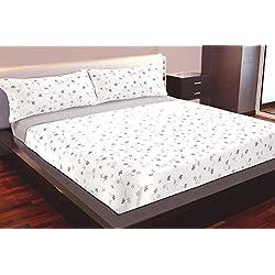 Juego de sábanas Algodón 100% Flores (SOFIA, para cama de 150x190/200)