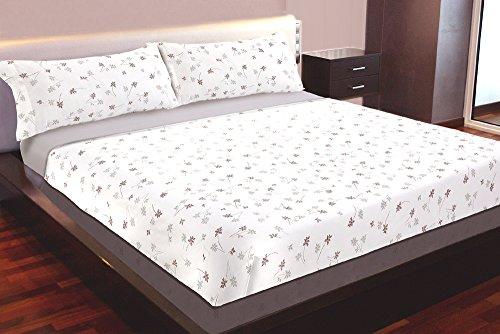 Juego de sábanas Algodón 100% Flores (SOFIA, para cama de 105x190/200)