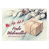 PERSONALISIERTE übergroße XXL Weihnachtskarte Frohe Weihnachten - mit Ihrem WUNSCHTEXT anpassbar - Für Kunden, Firmen, Kollegen, Familie, Freunde, Lieferanten - Geschäftlich und Privat
