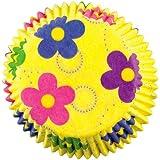 Wilton - Moldes de papel para magdalenas (50 unidades), diseño de flores