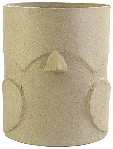 Décopatch-Portalápices Forma pájaro en cartón marrón, AC802C, 8x 10,5x 10cm