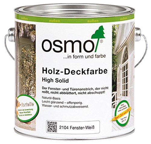 OSMO Holz-Deckfarbe 750ml Fenster-Weiss 2104